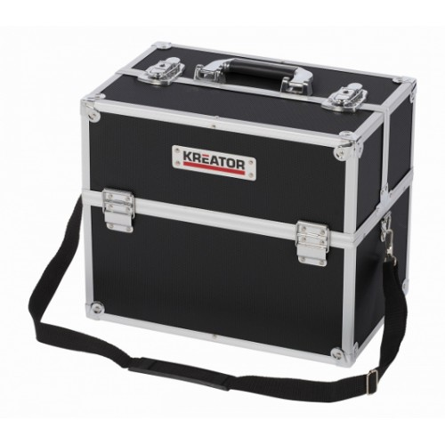 Kufr hliníkový KRT640301B na nářadí Kreator, černý
