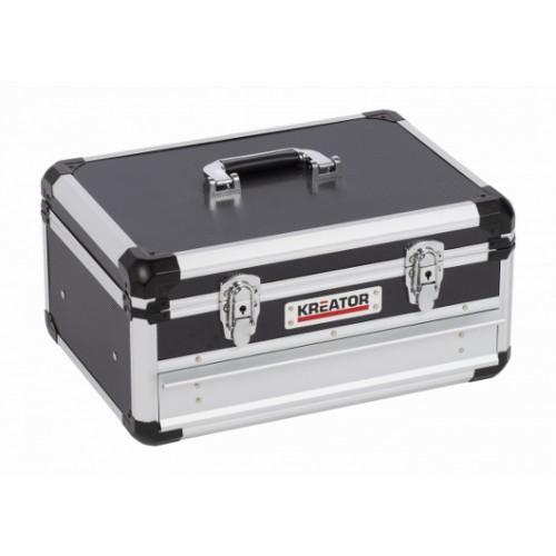 Kufr hliníkový KRT640601B na nářadí Kreator, černý