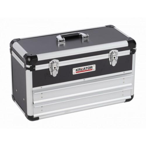 Kufr hliníkový KRT640602B na nářadí Kreator, černý