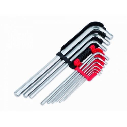 Sada dlouhých klíčů HEX KRT408301, 9 kusů
