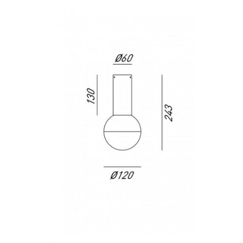 Nástěnné svítidlo moderní 275.01.ONT ze série Molecola
