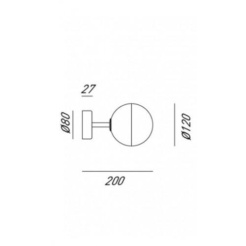 Nástěnné svítidlo moderní 275.03.ONT ze série Molecola