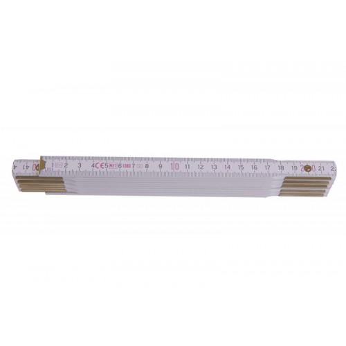 Metr skládací 113020 dřevěný bílý Metrie, 2m