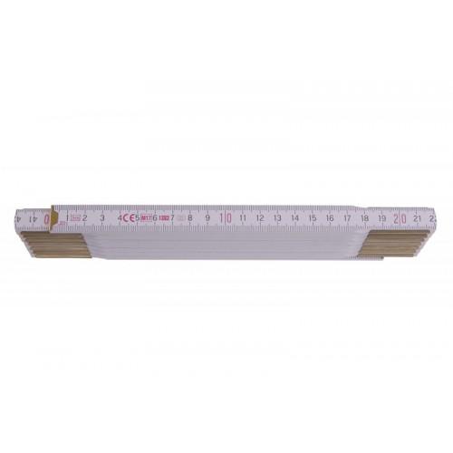 Metr skládací 113030 dřevěný bílý Metrie, 3m