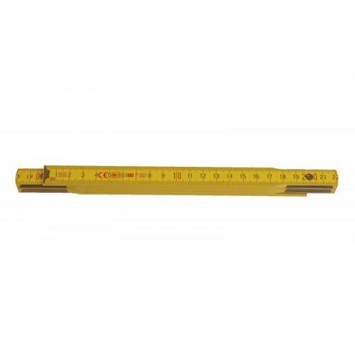 Metr skládací 113021 dřevěný žlutý Metrie, 1m