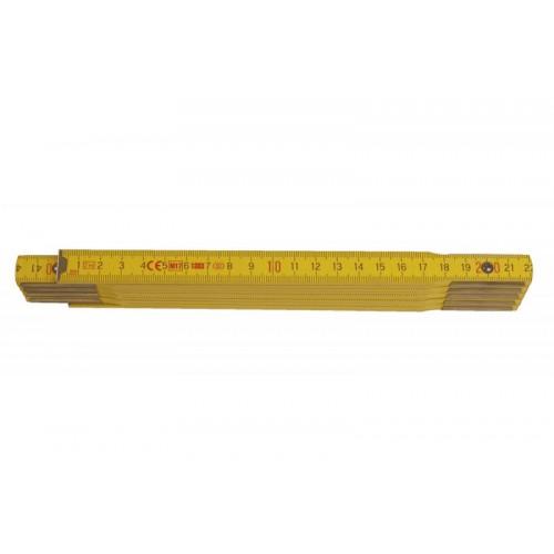 Metr skládací 113022 dřevěný žlutý Metrie, 2m