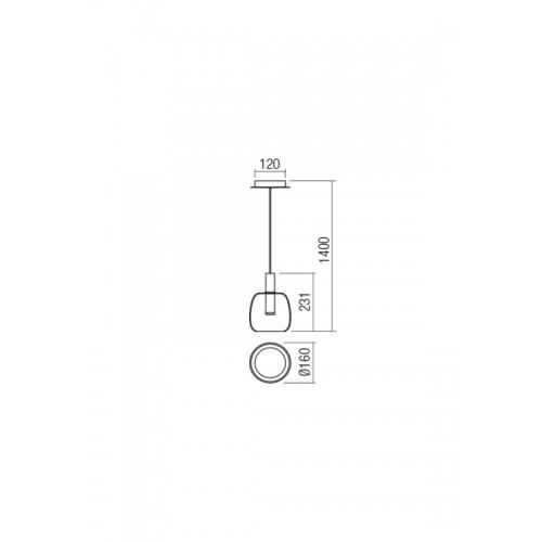 LED závěsné svítidlo 01-1819 ze série Candela, 6,6W