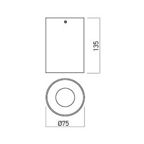 Stropní svítidlo NR01MWH/MBK, matná bílá/černá, GU10