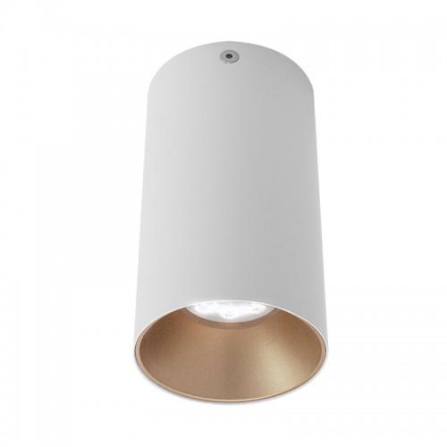 Stropní svítidlo moderní NR01MWH/SGD, matná bílá/zlatá, GU10