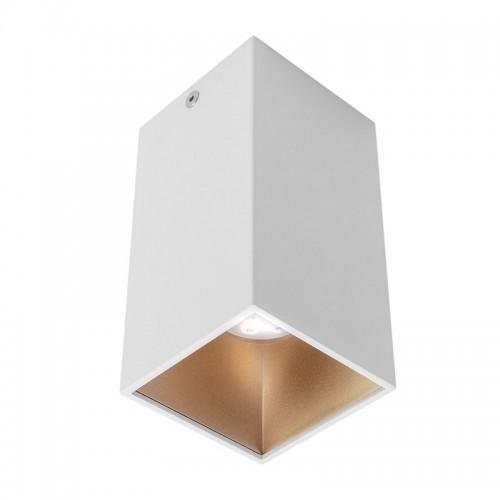 Stropní svítidlo moderní NR02MWH/SGD, matná bílá/zlatá, GU10