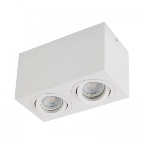 Stropní svítidlo moderní BX02MWH, matná bílá, 2 x GU10