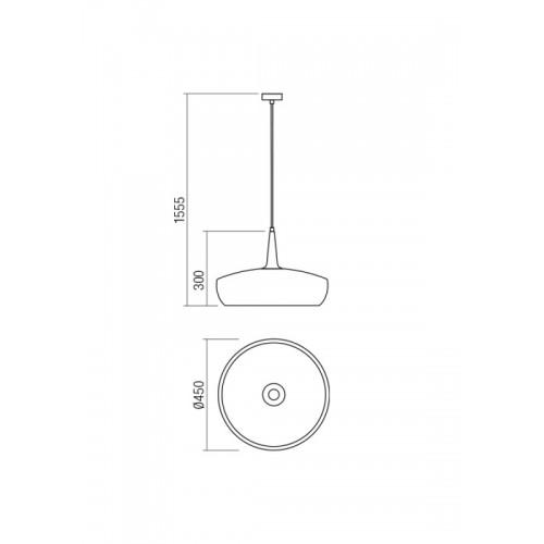 Závěsné svítidlo moderní 01-1613 ze série Agadir, bílá