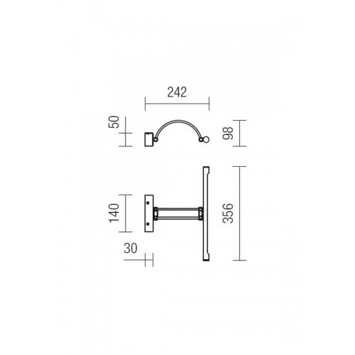 LED nástěnné svítidlo 01-455 ze série Ikon, 8W, chrom