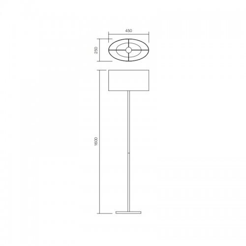 Stojací lampa moderní 01-681BR ze série Enjoy, hnědá