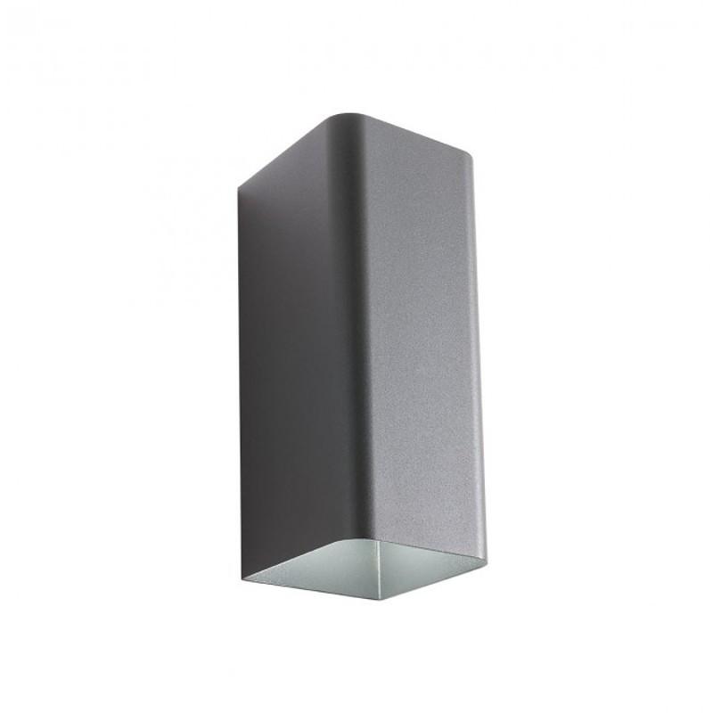 LED nástěnné svítidlo exteriérové 9562 ze série Tav, tmavá šedá