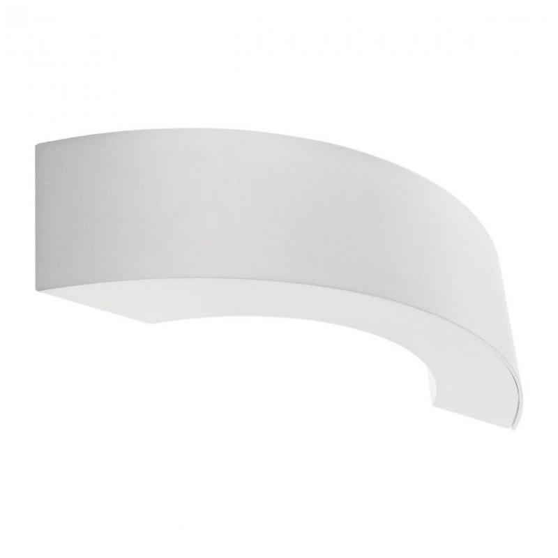 LED nástěnné svítidlo exteriérové 9902 ze série Eclipse, matná bílá