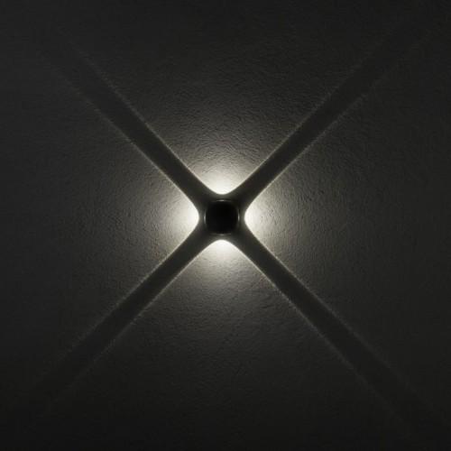 LED nástěnné svítidlo exteriérové 9169 ze série Milestone, 4 x 2W, tmavá šedá