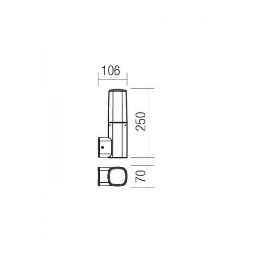 Nástěnné svítidlo exteriérové 9074 ze série Crayon, rezavá hnědá