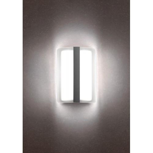 LED nástěnné svítidlo exteriérové 90025 ze série Breda, 12W, tmavá hnědá