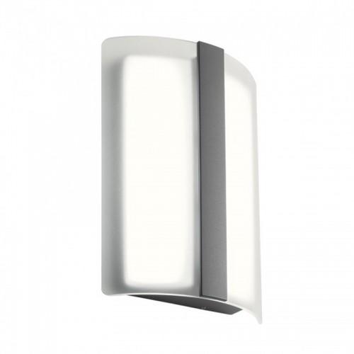 LED nástěnné svítidlo exteriérové 90023 ze série Breda, 12W, tmavá šedá
