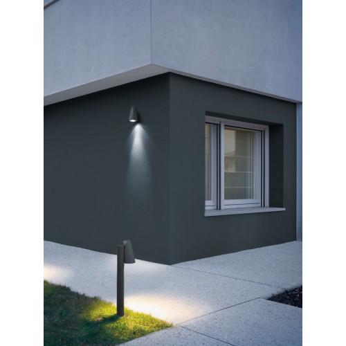 Sloupkové svítidlo exteriérové 9532 moderní ze série Alvar, tmavá hnědá