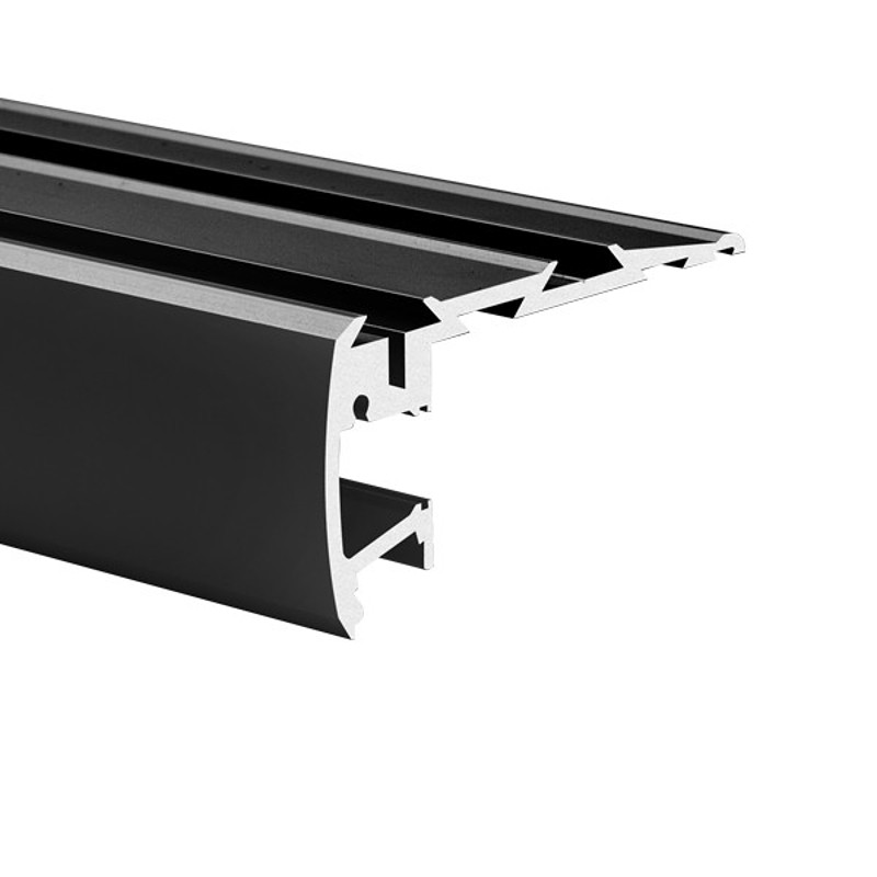 Profil hliníkový 18042K7 KlusDesign STEP KPL-ALU, anodizovaný černá