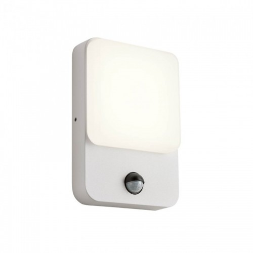 LED nástěnné svítidlo exteriérové 90131 ze série Colin s čidlem pohybu, 9W, písková bílá