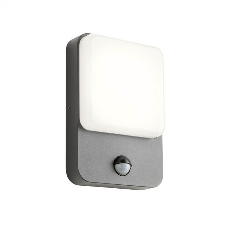 LED nástěnné svítidlo exteriérové 90133 ze série Colin s čidlem pohybu, 9W, tmavá šedá