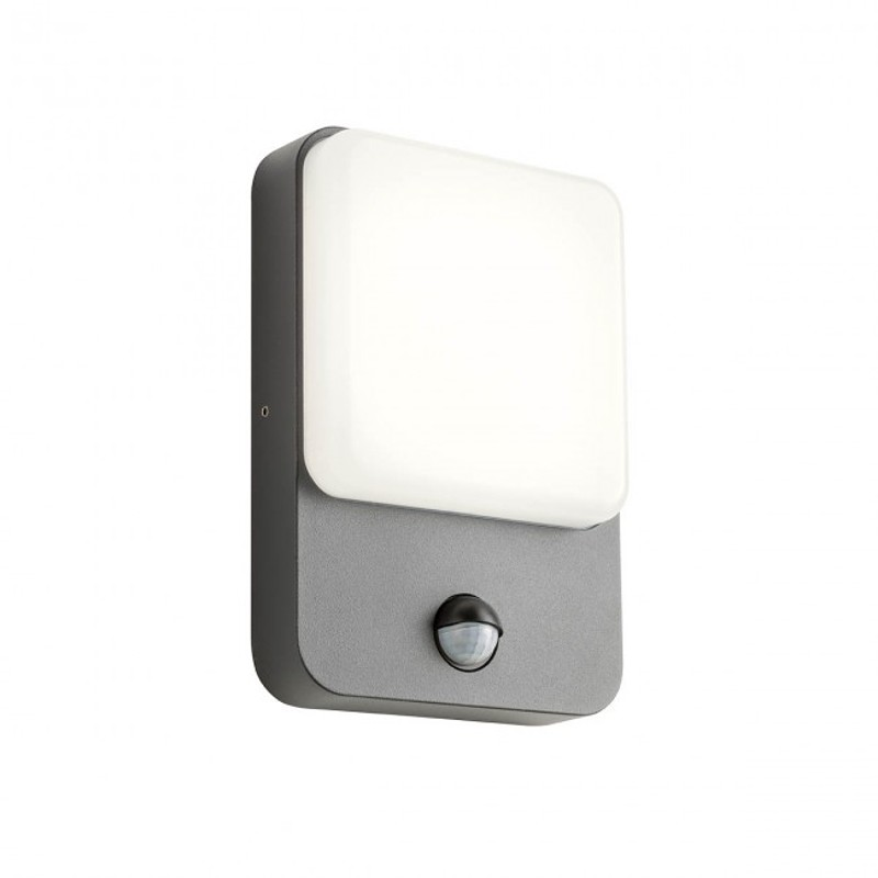 LED nástěnné svítidlo exteriérové 90134 ze série Colin s čidlem pohybu, 9W, tmavá šedá