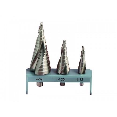 Sada stupňovitých vrtáků 120496 ocelových Festa, 3 kusy