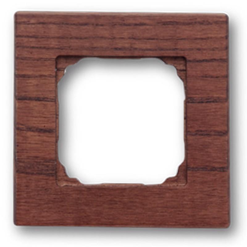Dřevěný rámeček jednonásobný F - 37, 37-801-03 - tabák