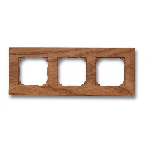Rámeček dřevěný trojnásobný 37-803-02