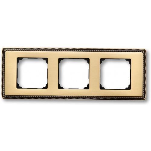 Rámeček mosazný trojnásobný 39-823-50