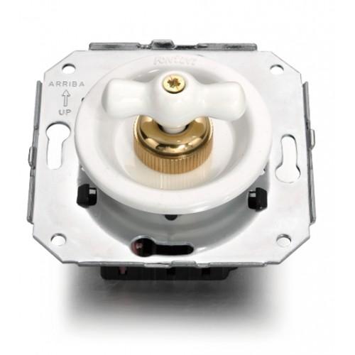 Vypínače a přepínače otočné 35-17 ze série Venezia, bílá/bílá