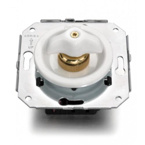 Vypínače a přepínače otočné 35-23 ze série Venezia, bílá/bílá retro