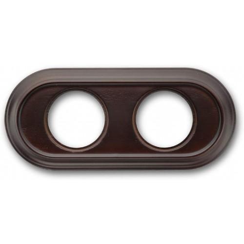 Rámeček dřevěný dvounásobný 35-802-20 ze série Venezia, ořech