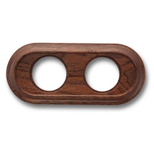 Rámeček dřevěný dvounásobný 35-802-16 ze série Venezia, sapelly
