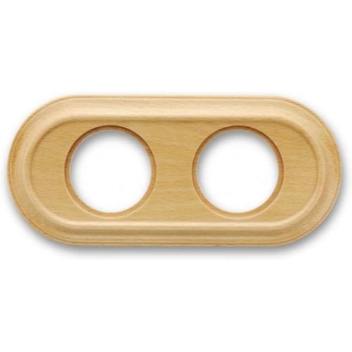 Rámeček dřevěný dvounásobný 35-802-15 ze série Venezia, dub