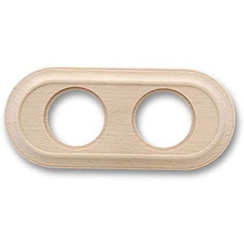 Rámeček dřevěný dvounásobný 35-802-00 ze série Venezia, natural