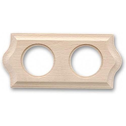 Rámeček dřevěný dvounásobný 36-802-00 ze série Venezia, natural
