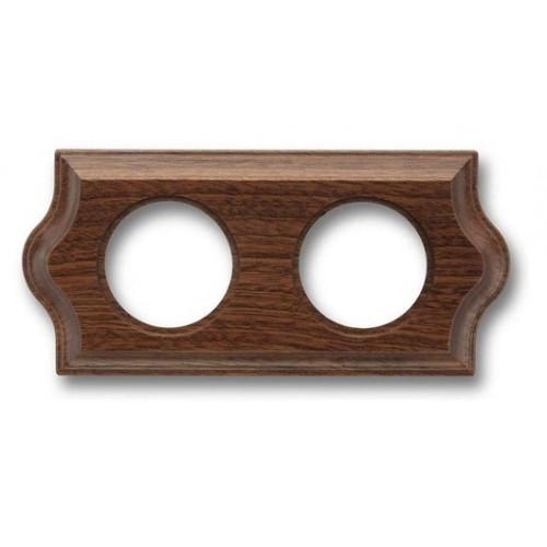 Rámeček dřevěný dvounásobný 36-802-16 ze série Venezia, sapelly