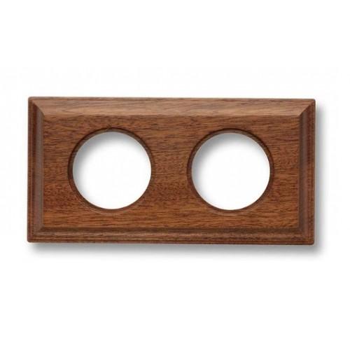 Rámeček dřevěný dvounásobný 36-812-16 ze série Venezia, sapelly