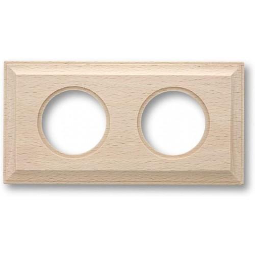 Rámeček dřevěný dvounásobný 36-812-00 ze série Venezia, natural