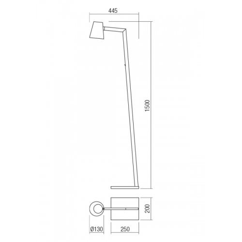Stojací lampa moderní 01-1556 ze série Mingo, bílá