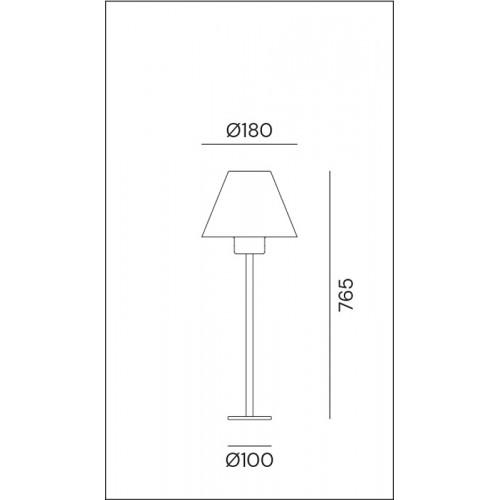 Sloupkové svítidlo exteriérové 261.11.OR rustikální - stará měď/mosaz