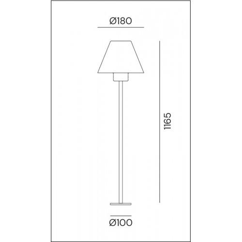Sloupkové svítidlo exteriérové 261.12.OR rustikální - stará měď/mosaz