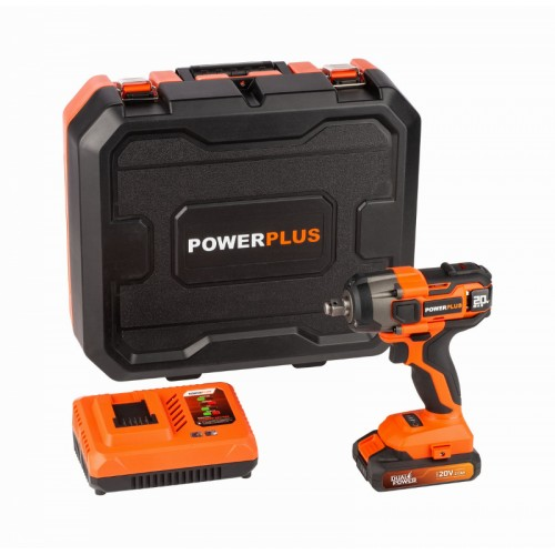 Utahovák rázový akumulátorový POWDP20160 Powerplus ze série Dual Power, 220Nm, 1 x aku 2.0Ah