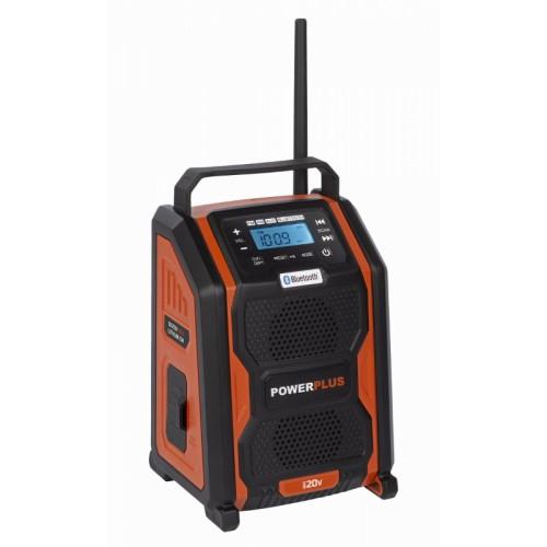 Rádio přenosné POWDP8060 akumulátorové Powerplus, bez aku
