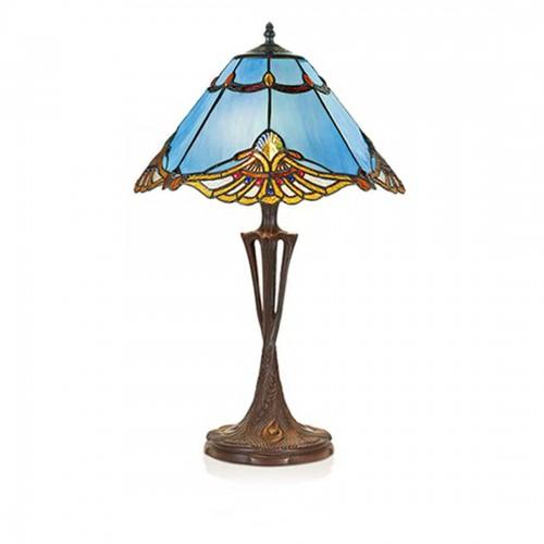 Stolní lampa Tiffany 161072+PBLM11