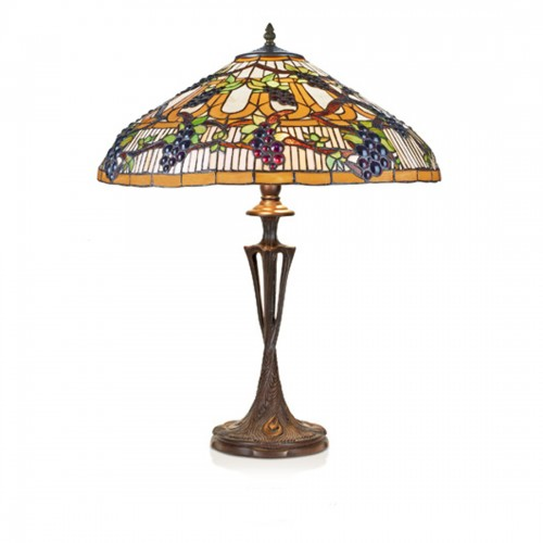 Stolní lampa Tiffany 40961+PBLM11